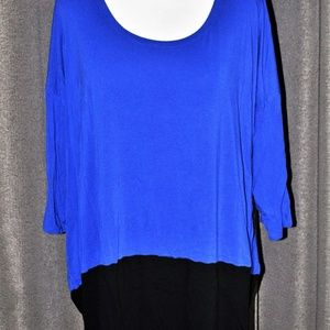 Black & Blue Color Block Tunic